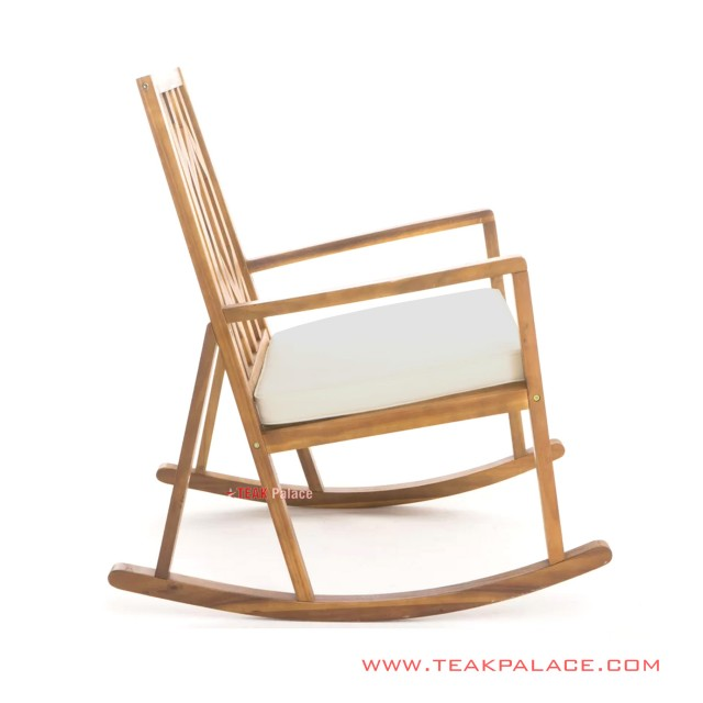 Rocking Chair Minimalist Vienna Salak Brown With Cushion