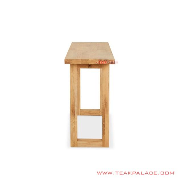 Melani Natural Minimalist Console Table
