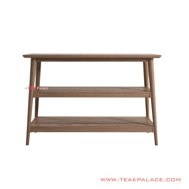 Console Table 2 Shelves Erland Salak Brown