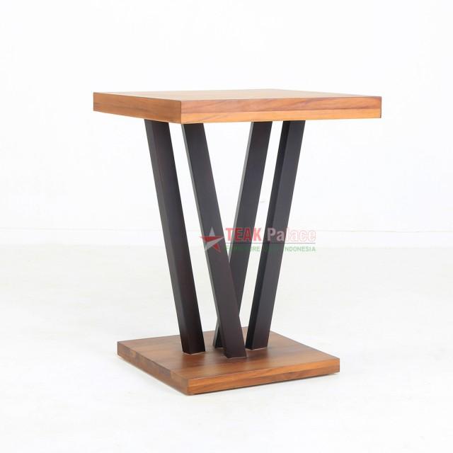 Corner Terrace Table Minimalist Teak Vortex
