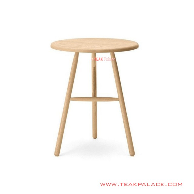 Corner Table Natural Teak Wood Silica Series