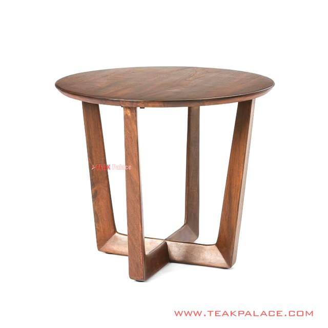Cikeas Minimalist Corner Table Teak Salak Brown