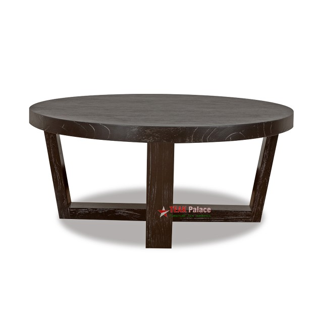Teak Solid Minimalist Round Living Room Table