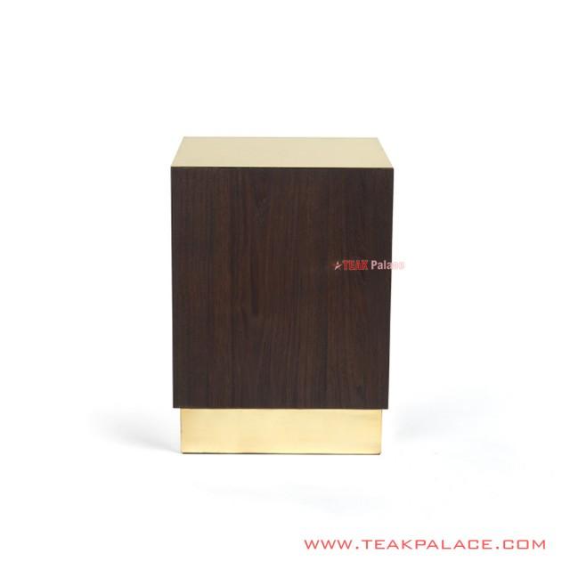 Corner Table Black Walnut Derma Series