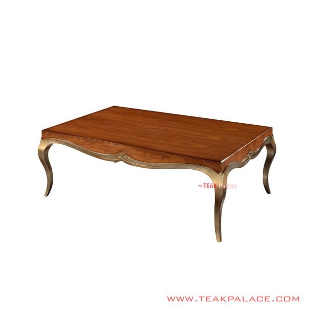 Arianda Gold Teak Minimalist Coffe Table