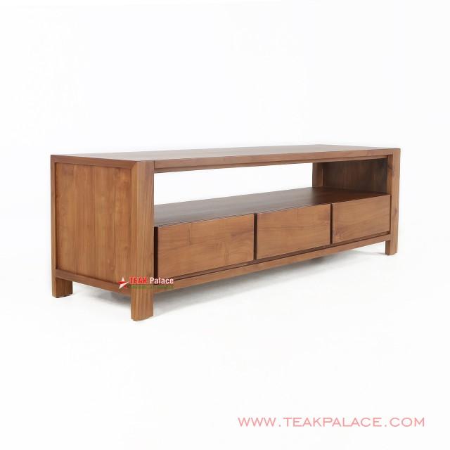 Minimalist Solid Teak TV Table Rack Medan