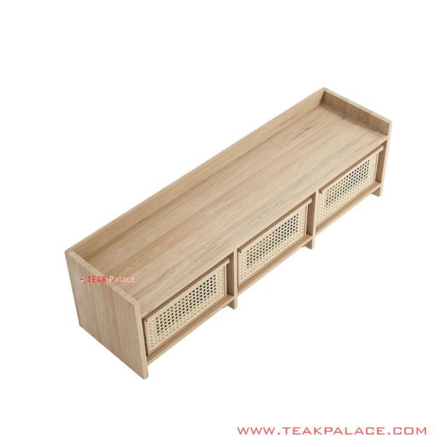 Adela Natural Minimalist TV Buffet Table