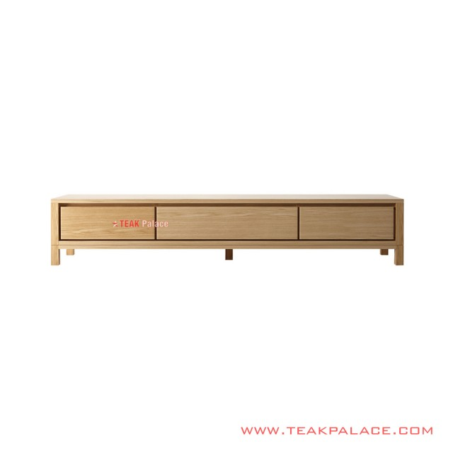 Meja TV 180 Cm Kayu Natural Lucas