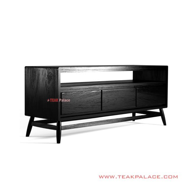 Tv table 130 cm Minimalist Black Alvinoka