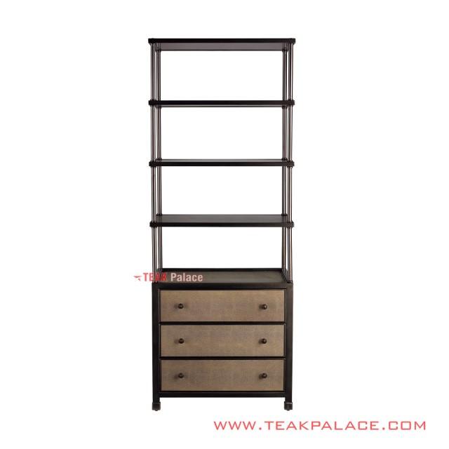 Display Shelf Minimalist Teak Wood 3 Drawers Surabaya Series