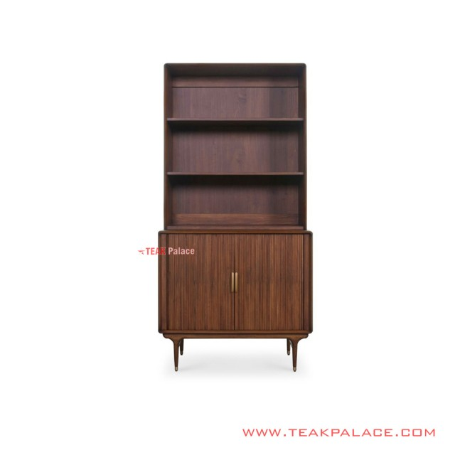 Shelf Cabinets Aezya Minimalist Old Salak Brown Teak Wood