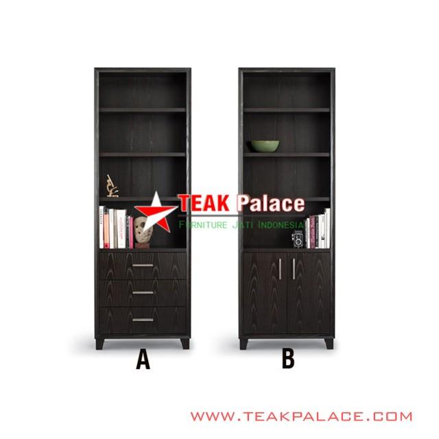 Display and Shelf Teak Wood Aries Series Black
