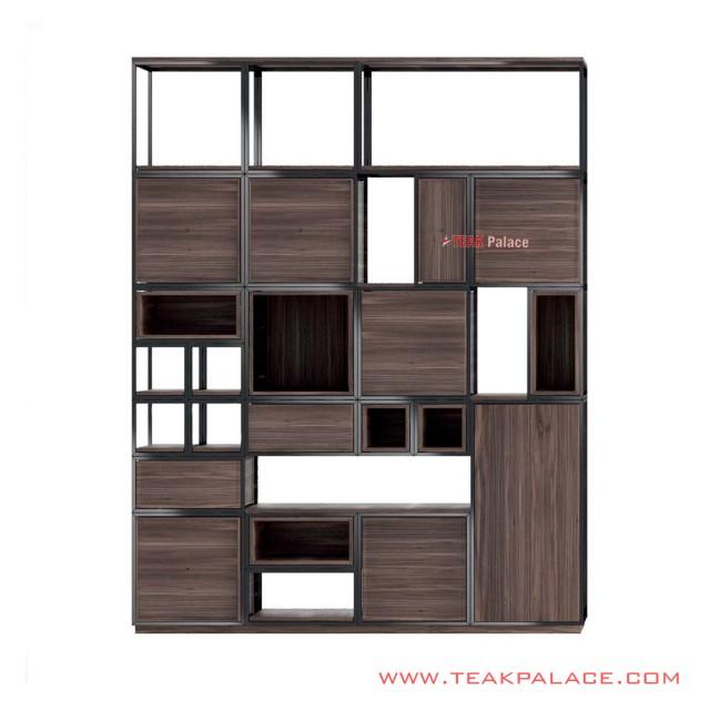 Modern Unique Decorative Shelf Teak Wallis Minimalist