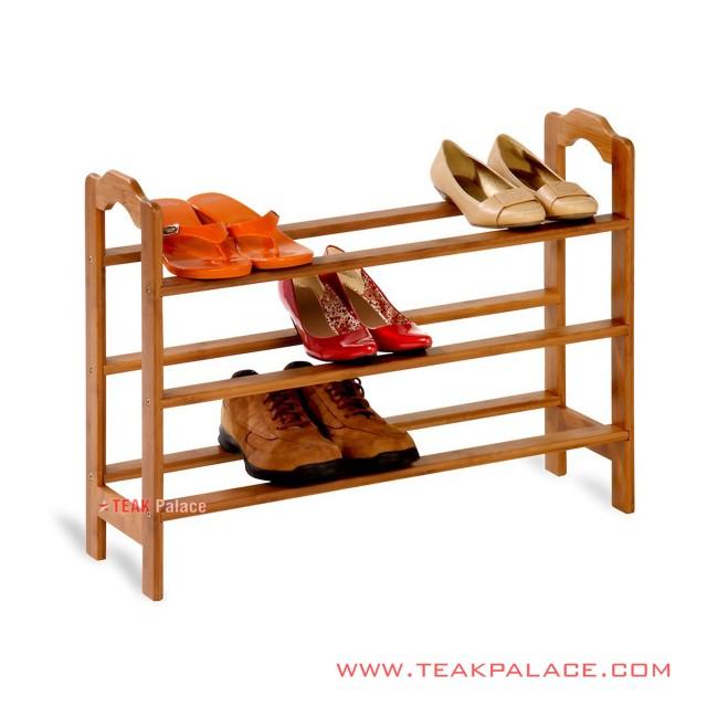 Shoe Rack Minimalist Teak Wood Charlie series