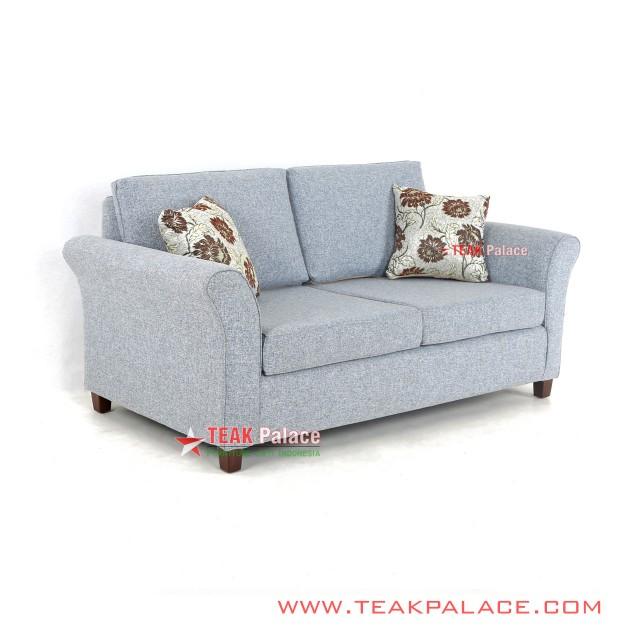 Sofa Minimalis 2 Dudukan Abu-abu Seri Malang