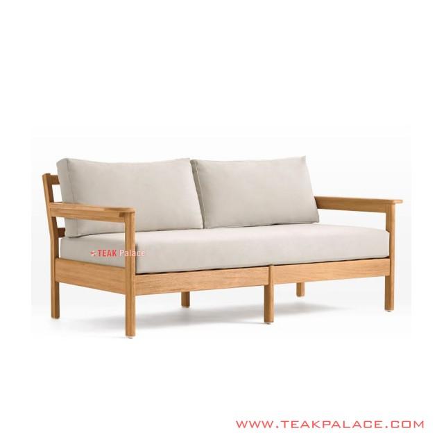 Sofa 2 Dudukan Mouila Minimalis Jati