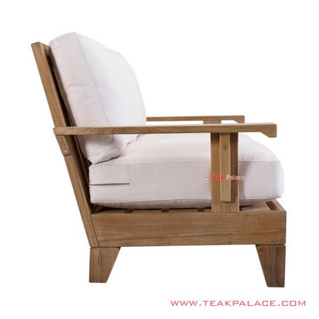 Sofa Minimalis Natural Jati Toshiro 2 Dudukan