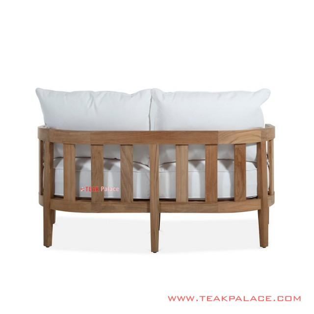 Sofa Tamu Mongo  2 dudukan Jati Minimalis