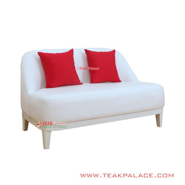 Sofa Minimalis Putih 2 Seater Lampung
