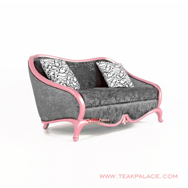 Kursi Sofa Minimalis 2 Dudukan Cameo Duco Pink