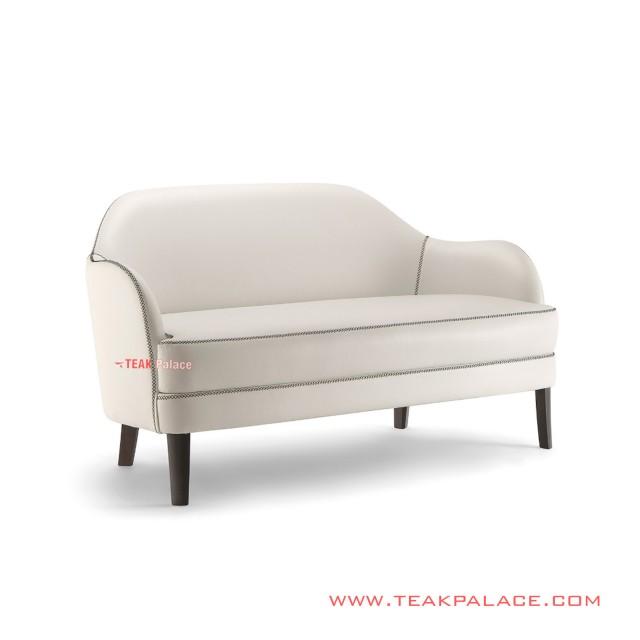 Sofa Tamu 2 Dudukan Putih Seri Kevin