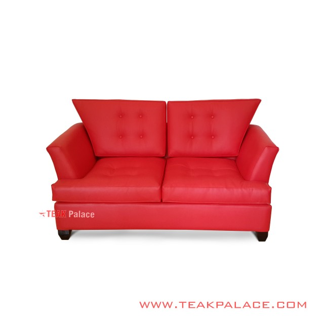 Sofa Minimalist 2 Seater Oscar Red Redo