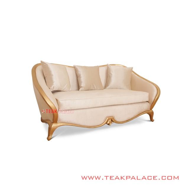 Luxury Gold Sofa 2 Seat Minimalist Cameo