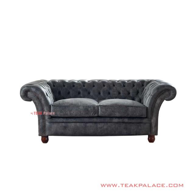 Sofa Classic Chesterfield Minimalis Jati