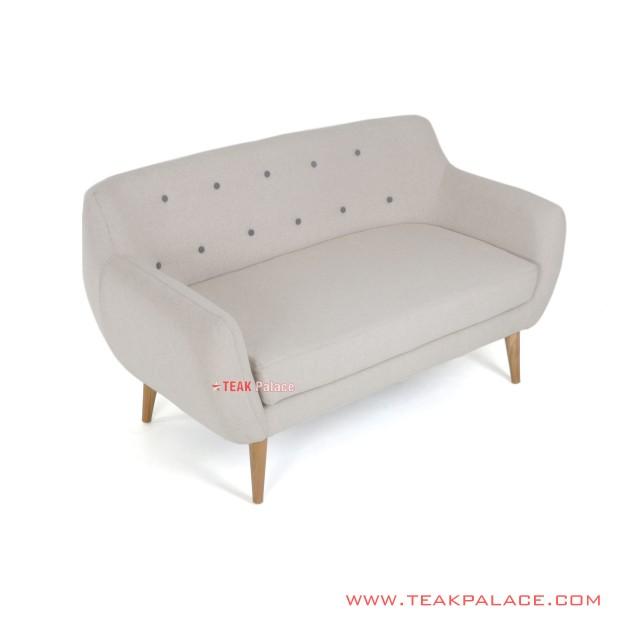Sofa Vintage Minimalis 2 Dudukan Retro Seri Dina