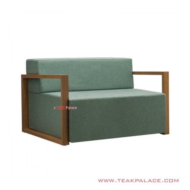 Sangja Minimalist Teak Guest Sofa