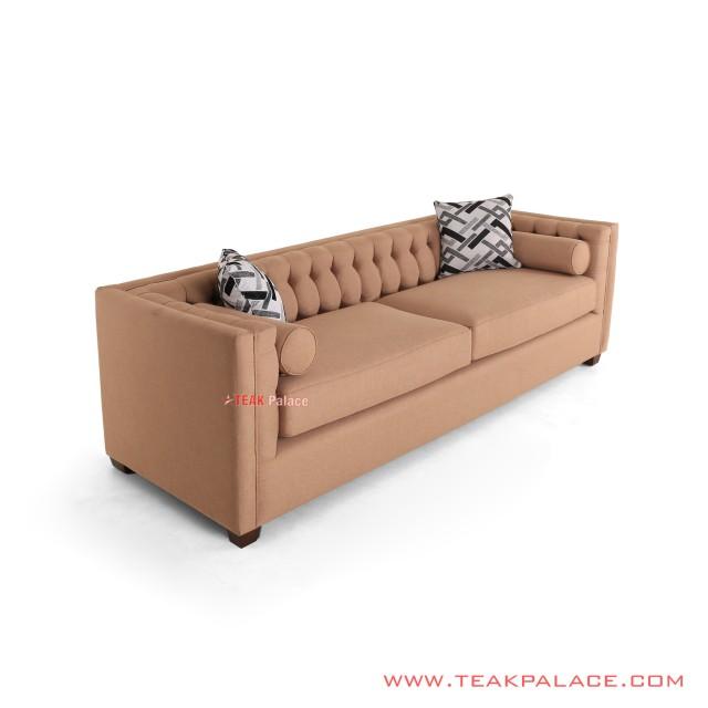 Sofa Bogor Minimalist Teak Brown Salak Wood