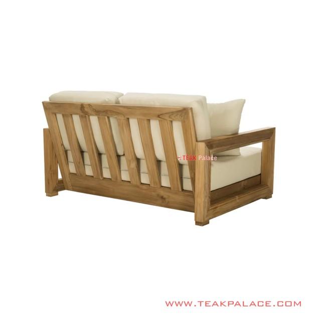 Sofa Tamu Minimalis Cream 2 dudukan Seri Luxius