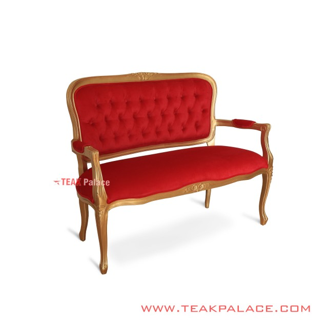 Victorian Gold Classic Guest Chair 2 Seat