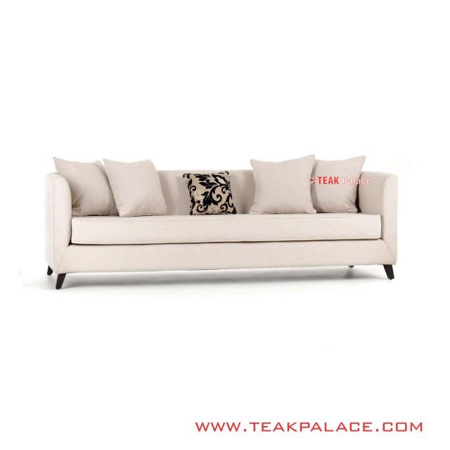 Sofa Santai Minimalis 3 Seater Linen Seri Accent