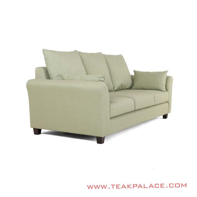 Sofa Minimalis 3 Seater Seri Malang Green Revina