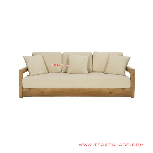 Sofa 3 dudukan Luxius Cream Minimalis Mewah
