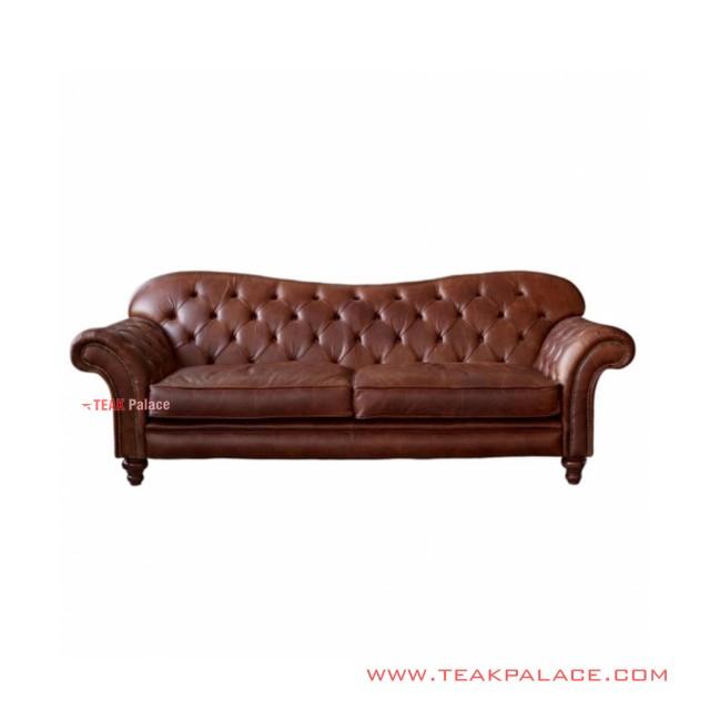 Kursi Sofa 3 Seater Selfie Minimalis Jati