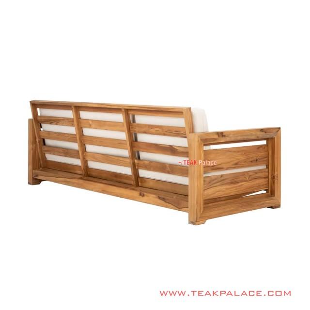 Betawi Sofa Minimalist Natural Wood Rivoli Linen