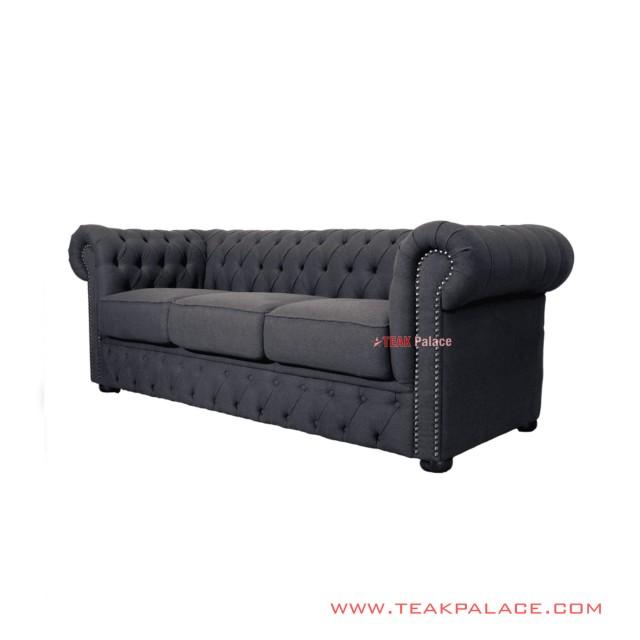 Sofa Chesterfield Mewah Jati Grey Minimalis