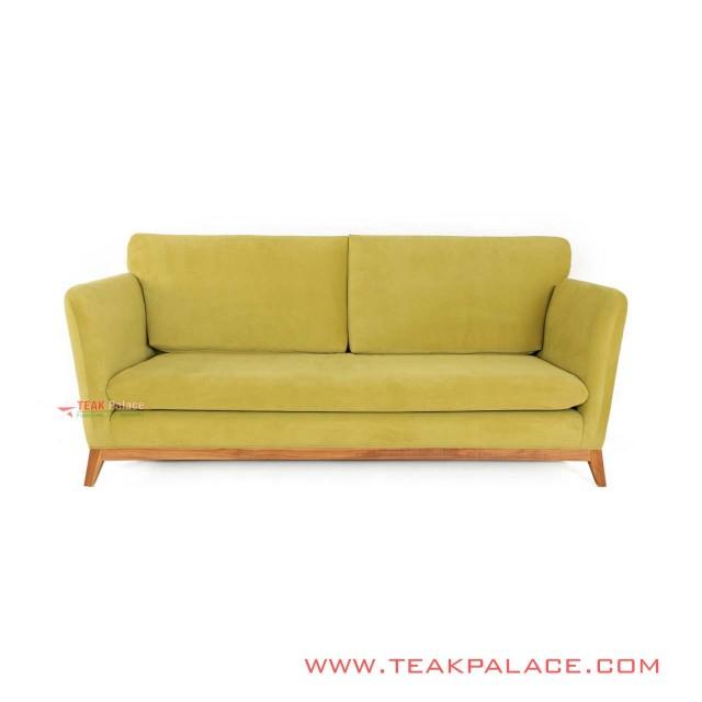 Sofa Minimalis Vintage Retro Hijau Seri Muara 3 Dudukan