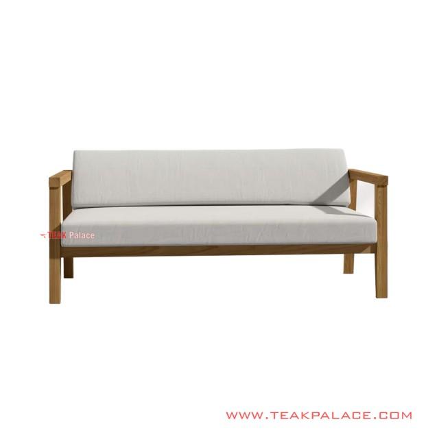 Sofa Tamu Minimalis 3 Dudukan Seri Seoul White Mewah