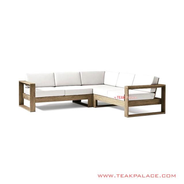Sofa L Natural Minimalis Seri Bitam