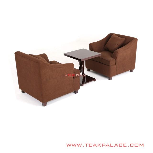 Set Sofa Minimalis Lobby Hotel Coklat Black Walnut Musi