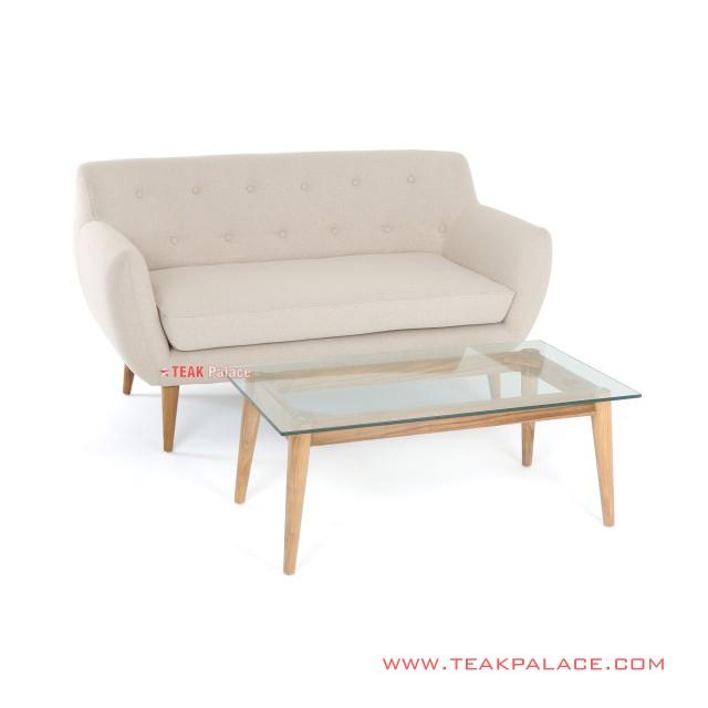 Sofa Minimalis 2 Dudukan Set Meja Linen Seri Dina