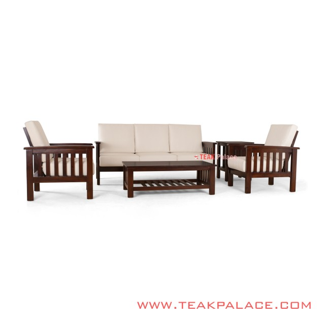 Guest Chairs Set Minimalist Model Natural Teak Bali Series