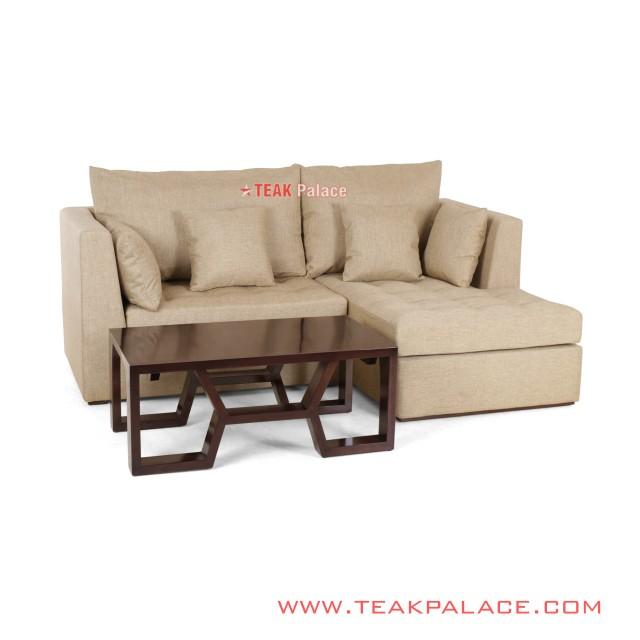 Set Sofa Sudut Minimalis Black Walnut Seri Depok