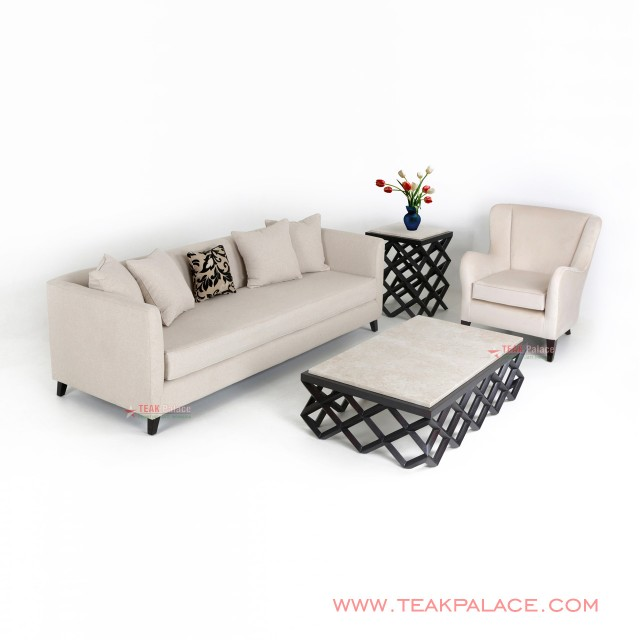 Sofa Minimalis Set Accent 31 Krem