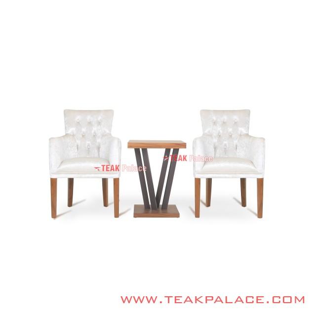 Patio Chair Minimalist Teak Vintage Series Wilona