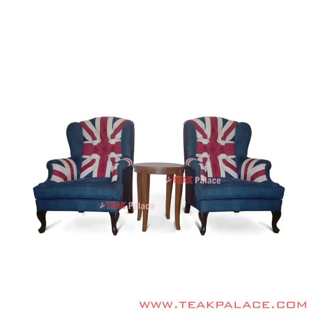 British Flag Sofa Terrace Hotel Union Jack Lobby