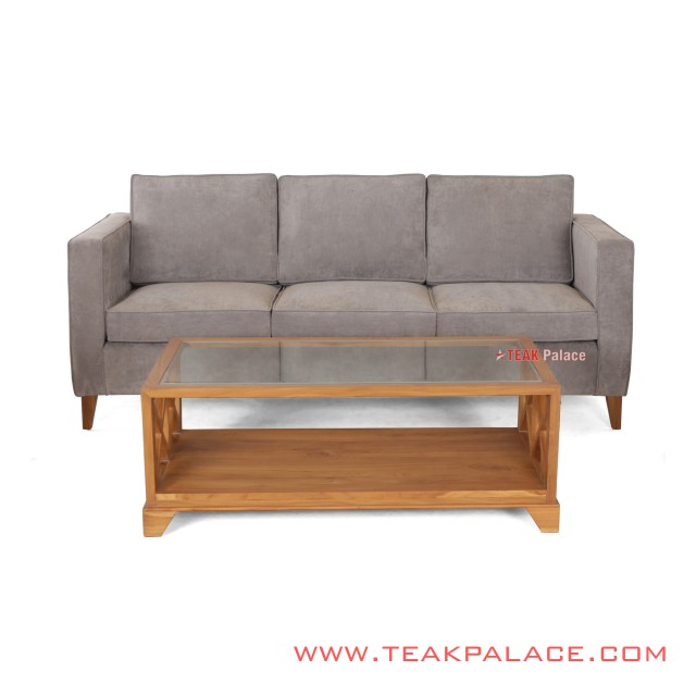 Sofa Meja Tamu Amalia Minimalis Jati Solid Set